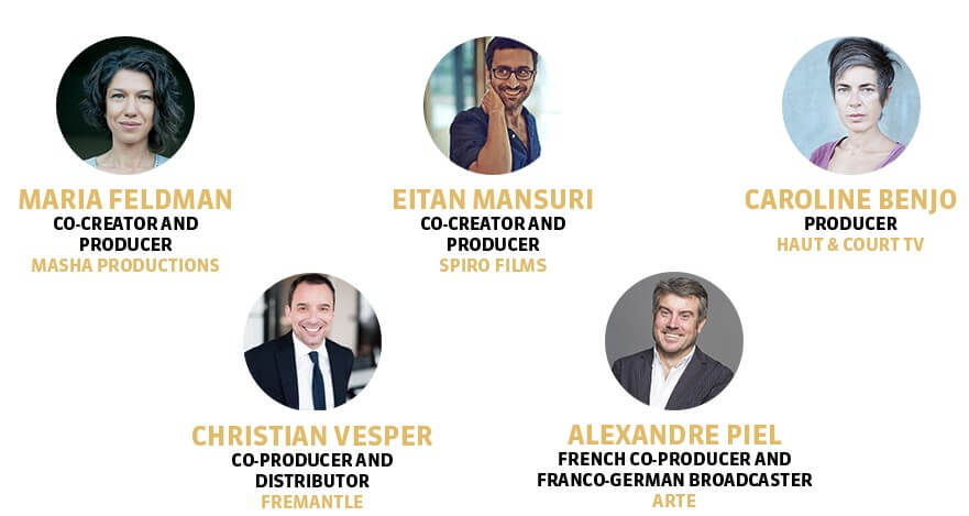 Panelists confirmed for this case study include No Man's Land co-creators and producers Maria Feldman and Eitan Mansuri, producer Caroline Benjo (Haut & Court TV), co-producer and distributorChristian Vesper (Fremantle),French co-producer and Franco-German broadcaster Alexandre Piel (ARTE).